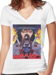 Indra, Madara and Sasuke Women's Fitted V-Neck T-Shirt