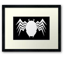 Neo Retro Venom Symbol - Version B Framed Print