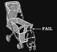 Push Chair Baby Fail (w&b) by Tessai-Attire