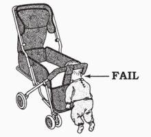 Push Chair Baby Fail (b&w) by Tessai-Attire