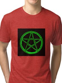Green Pentagram Tri-blend T-Shirt