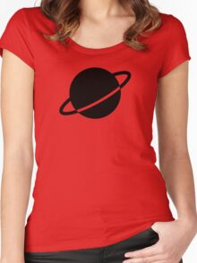 Legion of Super-Heroes; Saturn Girl Women's Fitted Scoop T-Shirt
