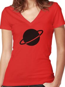 Legion of Super-Heroes; Saturn Girl Women's Fitted V-Neck T-Shirt