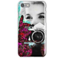 Marilyn And Nikon iPhone Case/Skin