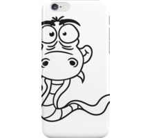 cartoon comic funny humorous cool snake iPhone Case/Skin