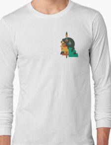 HAWAIIAN HULA GIRL FLAT DESIGN TATOO Long Sleeve T-Shirt