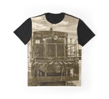 Vintage Army Train Graphic T-Shirt