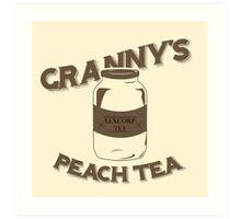Granny's Peach Tea Brown Art Print