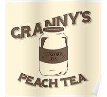 Granny's Peach Tea Brown Poster