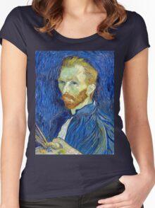Vincent van Gogh Self-Portrait Women's Fitted Scoop T-Shirt