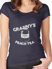 Granny's Peach Tea White Women's Fitted Scoop T-Shirt
