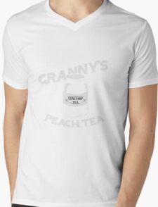 Granny's Peach Tea White Mens V-Neck T-Shirt