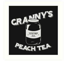 Granny's Peach Tea White Art Print