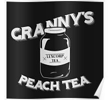 Granny's Peach Tea White Poster
