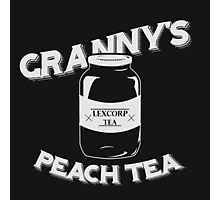 Granny's Peach Tea White Photographic Print
