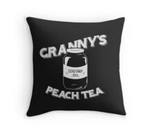 Granny's Peach Tea White Throw Pillow