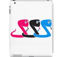 child colorful design cool buddies team crew party funny little cute sweet baby snake iPad Case/Skin