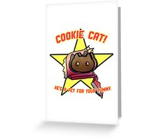 Ice Cream Cat Greeting Card