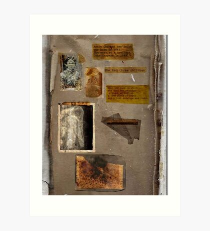Altered, Annie Chapman Bio Page Art Print