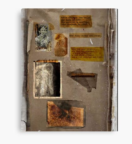 Altered, Annie Chapman Bio Page Canvas Print