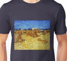 Vincent van Gogh Corn Harvest in Provence Unisex T-Shirt