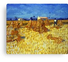 Vincent van Gogh Corn Harvest in Provence Canvas Print