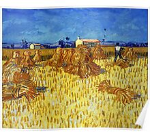 Vincent van Gogh Corn Harvest in Provence Poster
