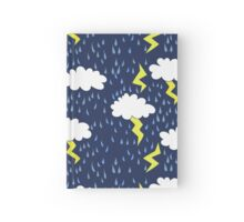 Rain storms thunder clouds Hardcover Journal