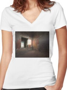 Herculaneum House Wall Art - Sun Spot on the Colorful Murals Women's Fitted V-Neck T-Shirt