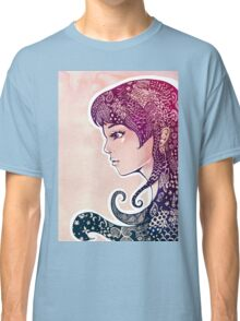 Girl with Decorative Hair Classic T-Shirt
