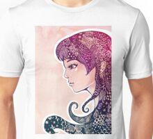 Girl with Decorative Hair Unisex T-Shirt