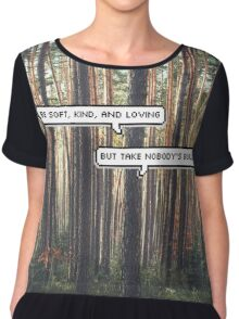 Take No Bull in The Woods Chiffon Top