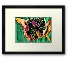 He left berries and a card for his son Brendan Framed Print