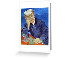 Vincent van Gogh Dr. Paul Gachet Greeting Card