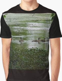 Geese In A Bayou Graphic T-Shirt