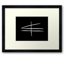 Symphony Freehand White (Large Print) Framed Print