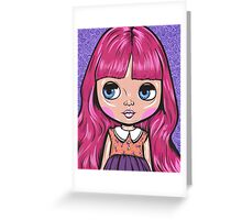 Pink Blythe Doll Greeting Card