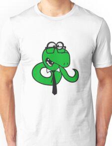 glasses snake bookworm nerd geek ties hornbrille smart funny cool comic cartoon Unisex T-Shirt