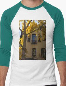 Yellow on Yellow - Golden Ginkgo Biloba and an Elegant Facade Men's Baseball ¾ T-Shirt