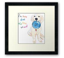 puppy dog breed Golden Retriever Framed Print
