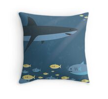 Sharks are Indifferent Throw Pillow