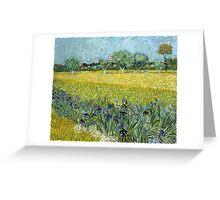 Vincent van Gogh Field of Flowers near Arles Greeting Card
