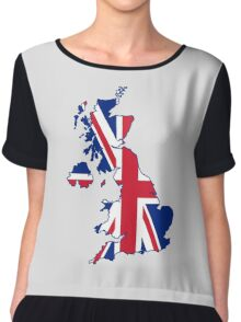 Flag Map of the United Kingdom  Chiffon Top