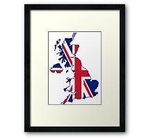 Flag Map of the United Kingdom  Framed Print