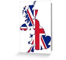 Flag Map of the United Kingdom  Greeting Card