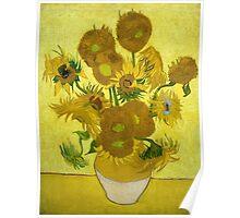 Vincent Van Gogh Fifteen Sunflowers In A Vase Poster