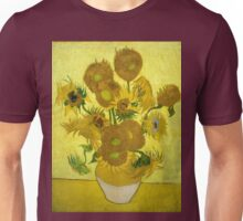 Vincent Van Gogh Fifteen Sunflowers In A Vase Unisex T-Shirt