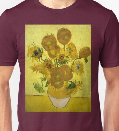 Vincent Van Gogh Fifteen Sunflowers In A Vase Unisex T-Shirt