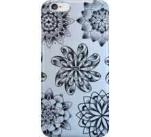 Black and White Star Patterns iPhone Case/Skin