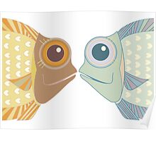 Fish Greetings Poster